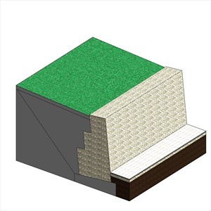 LOD 5 Model representation of Earthworks filling systems behind retaining walls.