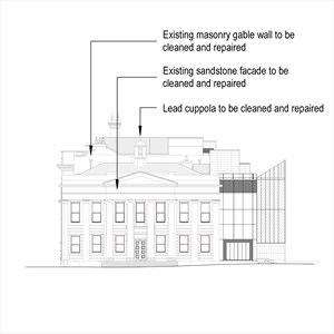 LOD 2 Elevation representation of Masonry repair systems.