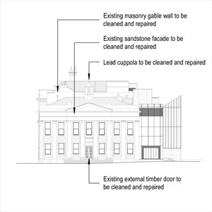 LOD 3 Elevation representation of Masonry repair systems.