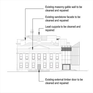 LOD 4 Elevation representation of Masonry repair systems.