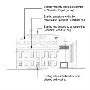 LOD 3 Elevation representation of Mortar repointing systems.