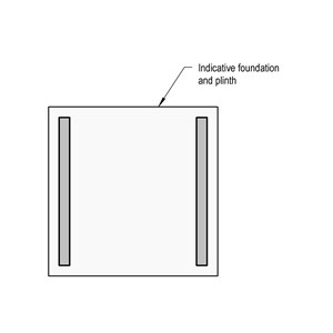 LOD 2 Plan representation of Reinforced concrete base or foundation systems.