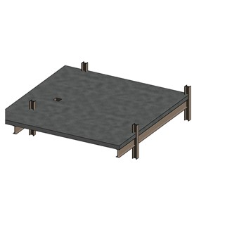 LOD 4 Model representation of Composite steel and concrete floor, roof or balcony deck systems.