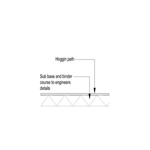 LOD 3 2D Section representation of Hoggin paving systems.