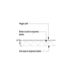 LOD 4 2D Section representation of Hoggin paving systems.