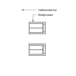 LOD 2 Plan representation of Rooflight systems.