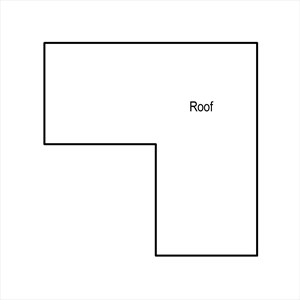 LOD 1 Plan representation of Pitched board roof sarking systems.