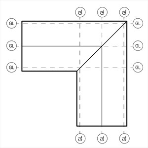 LOD 5 Plan representation of Pitched board roof sarking systems.
