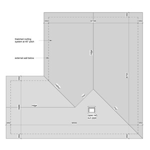 LOD 5 Plan representation of Thatch roofing systems.