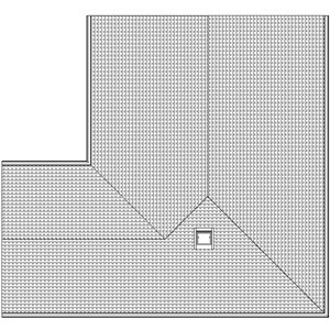 LOD 2 Plan representation of Interlocking tile roofing systems.