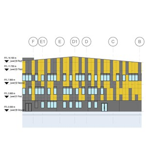 LOD 3 Elevation representation of Battened timber board floating floor systems.