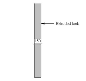 LOD 5 Plan representation of In-situ concrete kerb system.