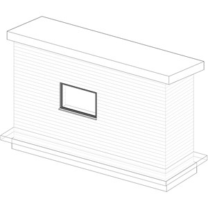 LOD 3 Model representation of Stabilized rammed earth wall systems.