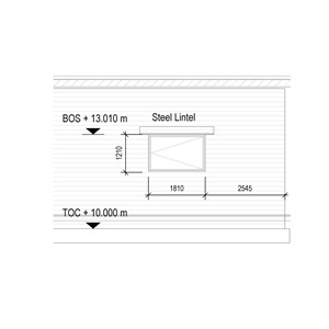 LOD 5 Elevation representation of Stabilized rammed earth wall systems.