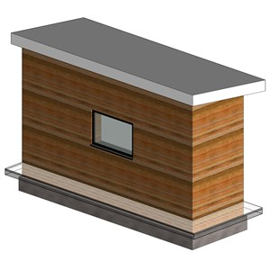 LOD 5 Model representation of Stabilized rammed earth wall systems.