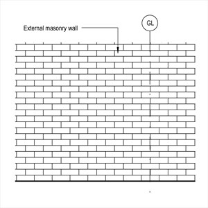 LOD 3 Elevation representation of Masonry wall external leaf systems.