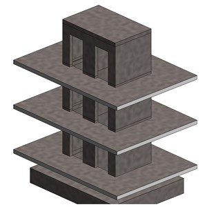 LOD 5 Model representation of Reinforced concrete wall structure systems.