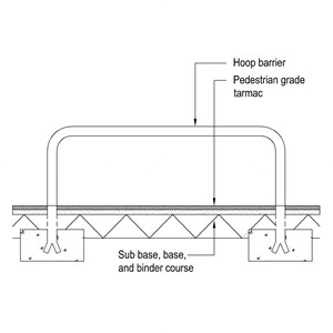 LOD 4 2D Section representation of Hoop barrier systems.