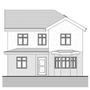 LOD 2 Elevation representation of External window systems.