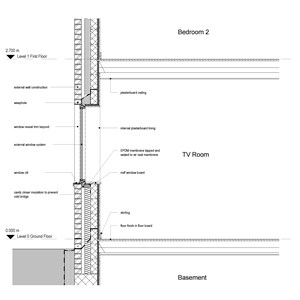 LOD 3 2D Section representation of External window systems.