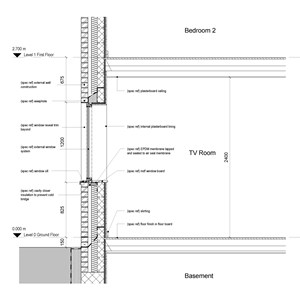 LOD 4 2D Section representation of External window systems.