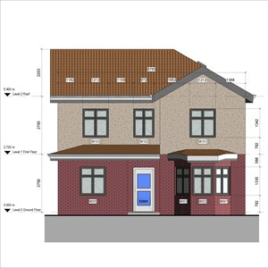 LOD 5 Elevation representation of External window systems.