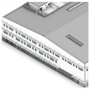 LOD 2 Model representation of Louvre screen systems.