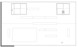 LOD 2 Plan representation of Louvre screen systems.