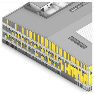 LOD 5 Model representation of Louvre screen systems.