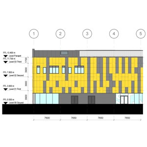 LOD 4 Elevation representation of GRP cladding systems.