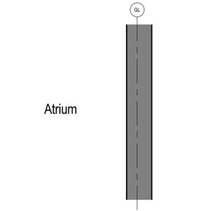 LOD 2 2D Section representation of Aluminium sheet cladding systems.