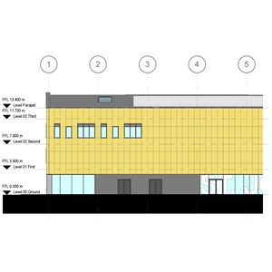 LOD 3 Elevation representation of Natural stone cladding systems.