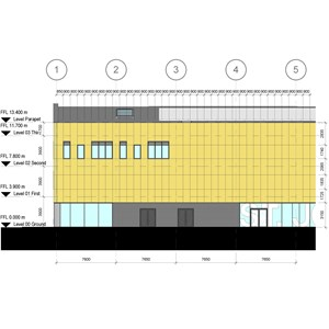 LOD 4 Elevation representation of Natural stone cladding systems.