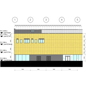 LOD 5 Elevation representation of Natural stone cladding systems.