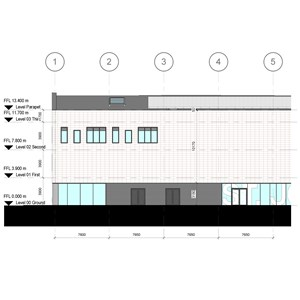 LOD 4 Elevation representation of Clay plain tile cladding systems.