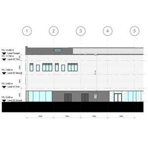 LOD 5 Elevation representation of Weatherboarding systems.