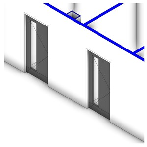 LOD 2 Model representation of Door hardware systems.