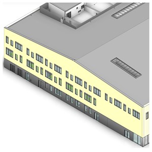 LOD 4 Model representation of External wall sheathing systems.