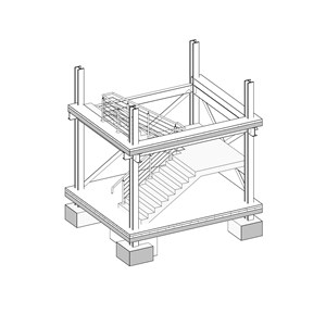 LOD 3 Model representation of Precast concrete stair or ramp systems.