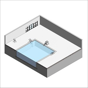 LOD 3 Model representation of Swimming pool wall tiling systems.