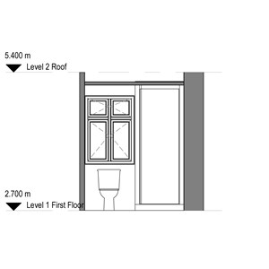 LOD 2 Elevation representation of Shower cubicle systems.