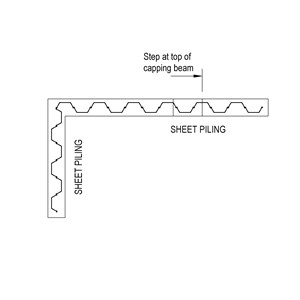 LOD 3 Plan representation of Carbon steel sheet piles.