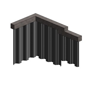 LOD 4 Model representation of Carbon steel sheet piles.