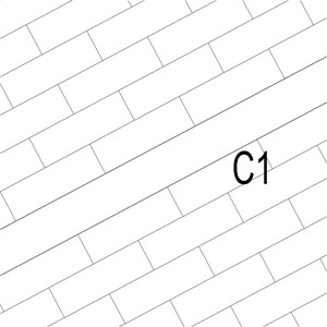 LOD 3 Plan representation of Natural stone surface channels.