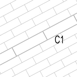 LOD 5 Plan representation of Natural stone surface channels.