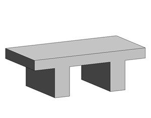 LOD 3 Model representation of Concrete platform units.