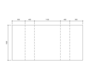 LOD 3 Plan representation of Concrete platform units.