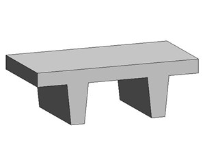 LOD 4 Model representation of Concrete platform units.