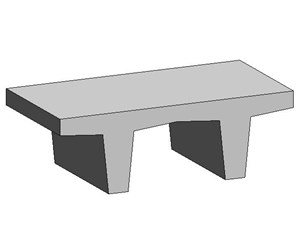 LOD 5 Model representation of Concrete platform units.