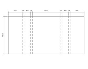 LOD 5 Plan representation of Concrete platform units.